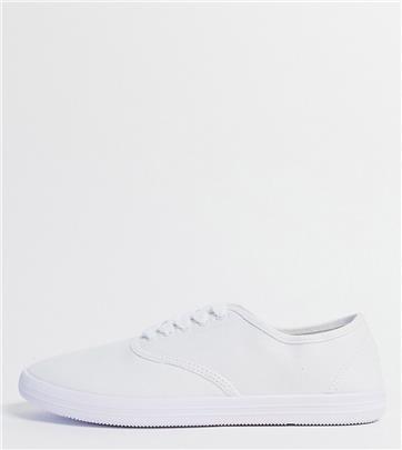 ASOS DESIGN - Oxford gympen met brede pasvorm in wit