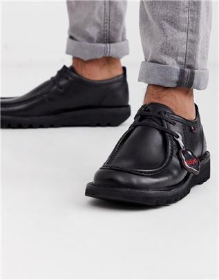 Kickers - Leren herenschoenen in zwart