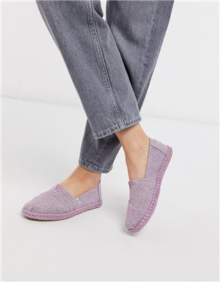 TOMS - Alpargata - Chambray espadrilles in lila-Paars