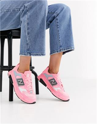 New Balance - X-Racer - Sneakers in neon roze