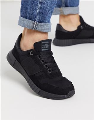 Jack & Jones - Hardloopschoenen met elastisch detail in zwart