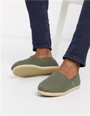 Jack & Jones - Espadrilles in olijfgroen