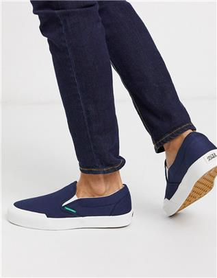 Jack & Jones - Canvas instapgympen in marineblauw