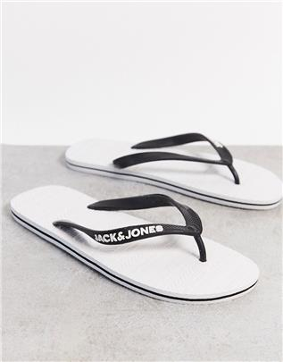 Jack & Jones - Teenslippers in wit