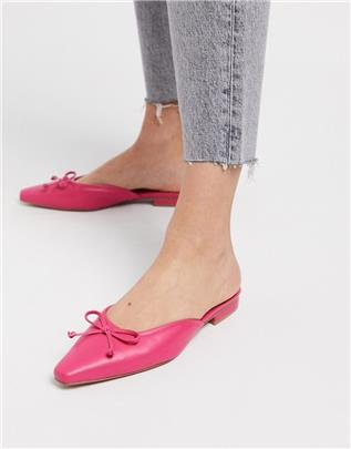 ASOS DESIGN - Light - Muiltjes met strik in roze