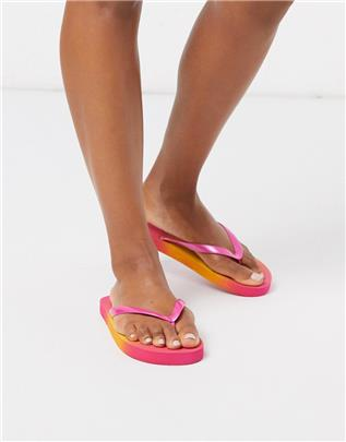 ASOS DESIGN - Filter - Teenslippers in ombre-Multi