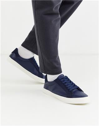Topman - Sneakers in marineblauw