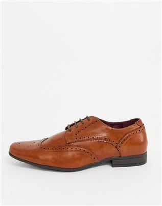 Burton Menswear - Derby schoenen in bruin-Lichtbruin