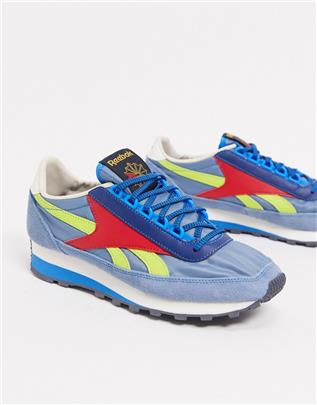 Reebok - Aztec 79 OG - Sneakers in blauw met geel