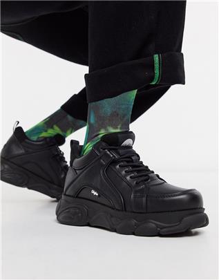 Buffalo - Cloud - Sneakers met dikke zool in zwart