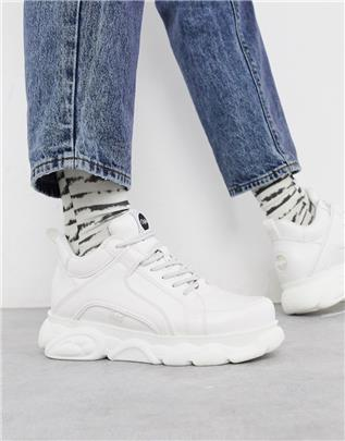 Buffalo - Cloud - Sneakers met dikke zool in wit