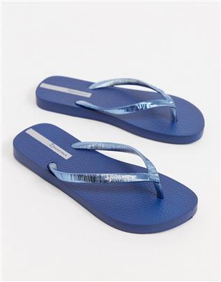 Ipanema- Glam- Teenslippers in marineblauw