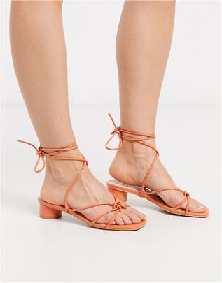 RAID - Isobel - Sandalen met hak en bandjes in koraal-Oranje
