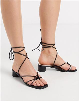 RAID - Isobel - Sandalen met hak en bandjes in zwart