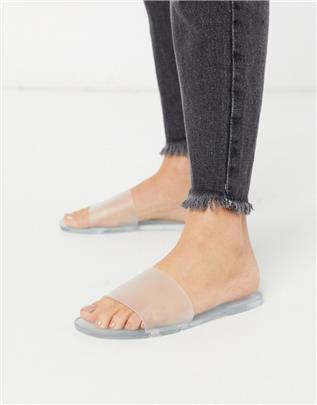 RAID - Amara - Transparante jelly slippers-Doorzichtig