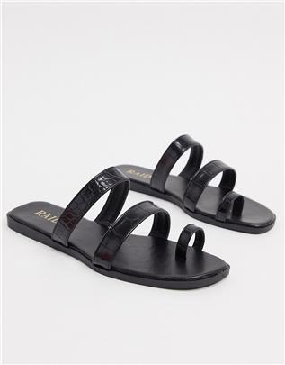 RAID - Millie - Platte sandalen in zwart