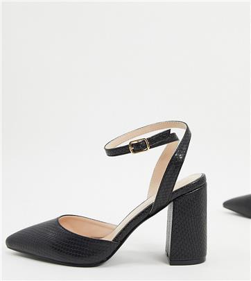 RAID - Neima - Exclusieve schoenen met blokhak en slangenprint in zwart