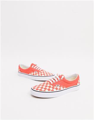 Vans Era - Geblokte sneakers-Oranje