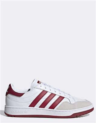 adidas Originals - Team Court - Sneakers van wit leer