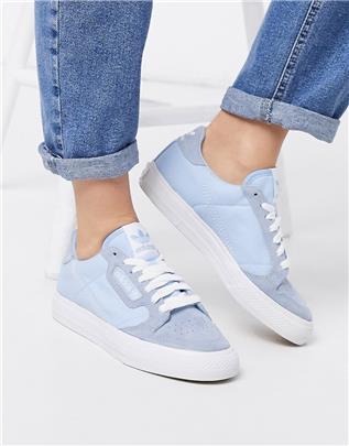 adidas Originals - Continental 80 Vulc - Sneakers in blauw-Wit