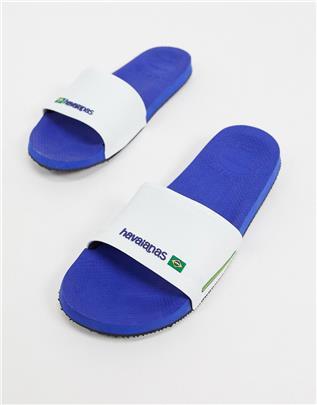 Havaianas - Brasil - Slippers in blauw en wit