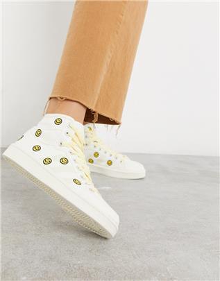 adidas Originals - Americana Decon - Sneakers met smileys-Wit