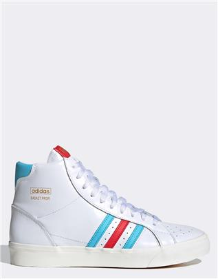 adidas Originals - Profi - Hoge leren sneakers in wit