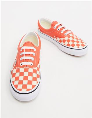 Vans classic - Authentic - Sneakers met dambordpatroon-Roze