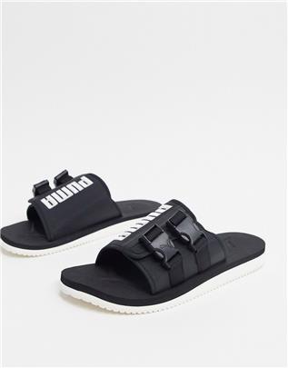 Puma - Wilo Lux - Slippers in zwart