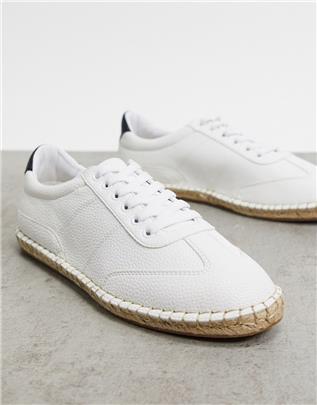 ASOS DESIGN - Espadrilles in sneakerlook in wit