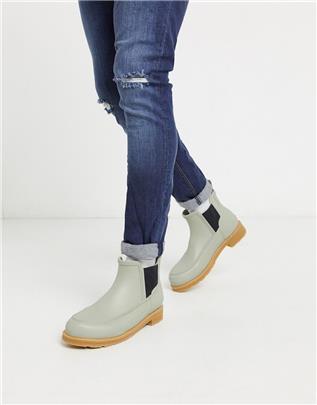 Hunter - Mock toe - Chelsea laarzen in groen