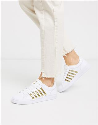 K-Swiss - Court Winston - Sneakers in wit met goud