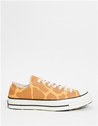 Converse - Chuck 70 Ox Archive - Sneakers met girafprint in bruin