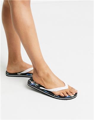 Levi's - Slippers met bloemenprint-Wit