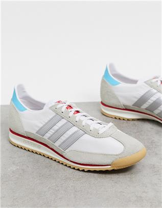 adidas Originals - SL 72 - Sneakers in wit en zilver