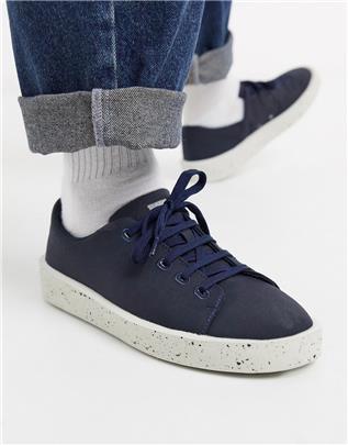 Camper - Sneakers in marineblauw met wit gemêleerde zool