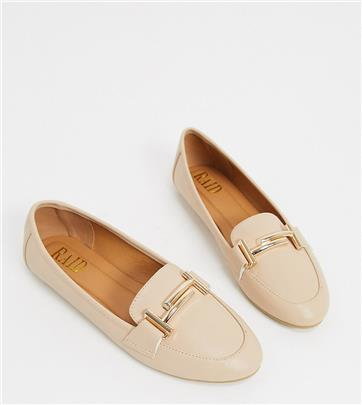 RAID - Nidhi - Loafers met gouden trens in beige