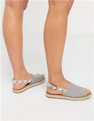 TOMS - Clara - Espadrille-sandalen met slingback in grijs
