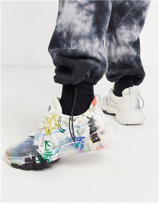 Bronx - Seventy street - Sneakers met graffitiprint-Multi