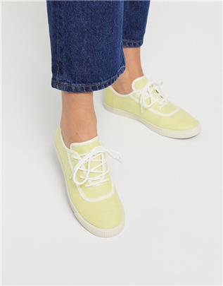 TOMS - Carmel - Vetersneakers in geel