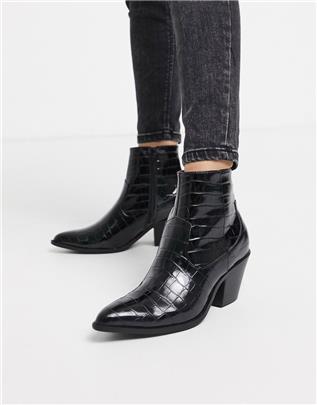 New Look - Western laarzen met hak in zwart