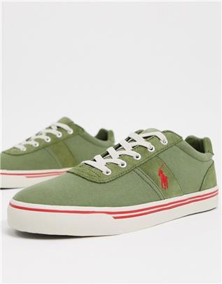 Polo Ralph Lauren - Hanford - Sneakers in groen met rood logo
