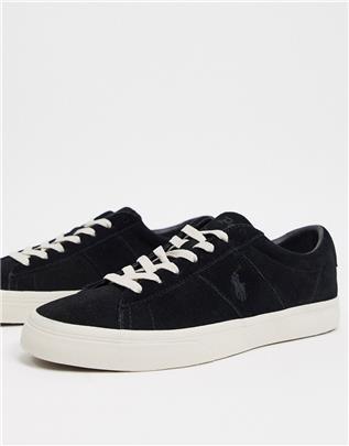 Polo Ralph Lauren - Sayer - Suède sneakers in zwart
