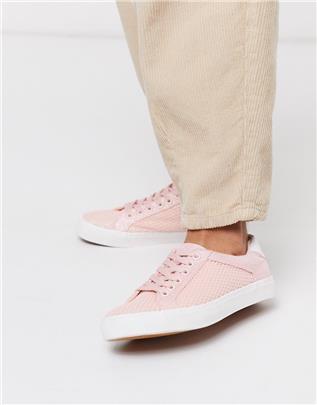 XTI - Sneakers met vetersluiting-Beige