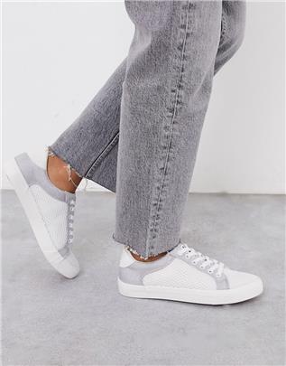 XTI - Sneakers met vetersluiting-Wit