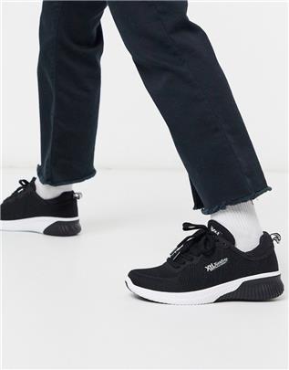 XTI - Hardloopschoenen met veters in zwart