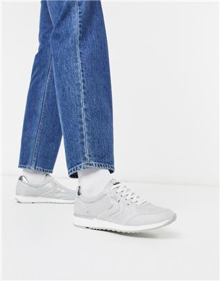 XTI - Hardloopschoenen met veters in grijs