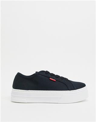 Levi's - Sneakers met plateauzool-Zwart