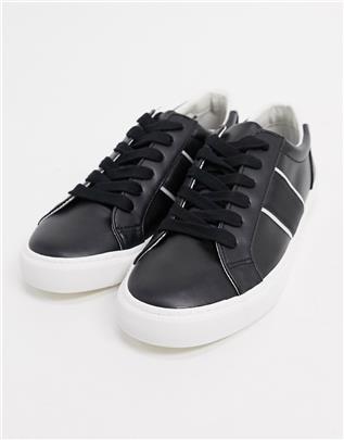 ASOS DESIGN - Sneakers met zijstreep in zwart