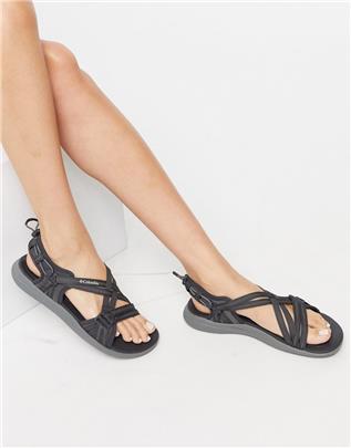 Columbia - Sandalen met band in zwart
